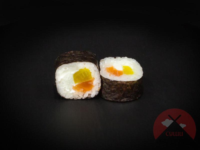 Копченый лосось с такуаном